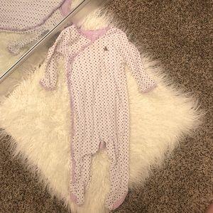 Baby Gap snap up footie pjs